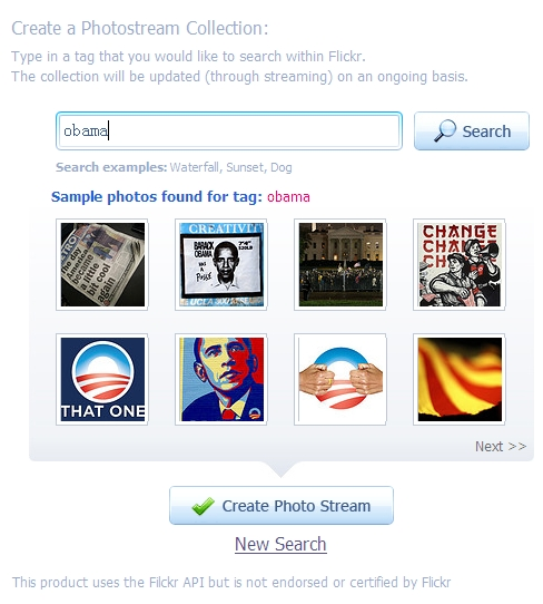 photojoy内置的Flickr搜索