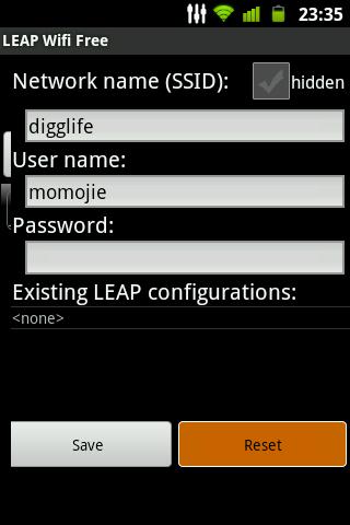 支持 LEAP 无线网络的 Android 应用 LEAP WiFi Free
