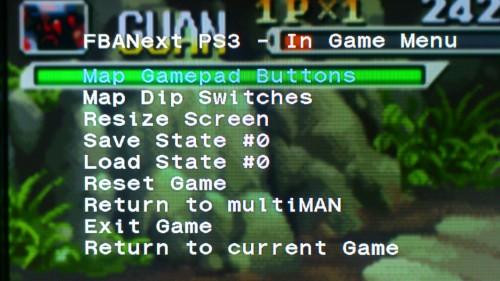 FBAnext在游戏中的设定菜单
