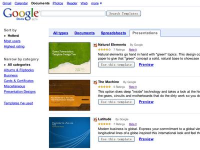 Google文件模板目录中不乏非常美观精致的选择