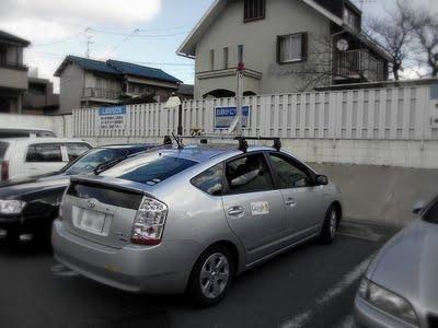 这是日本网友2月份在一家便利店停车场发现的Google街景拍摄用车